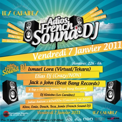 Flyer 2011.01.07 Adios French Sound Dj @ Les Caraibes 410x411 Adios French Sound Dj @ Les Caraibes