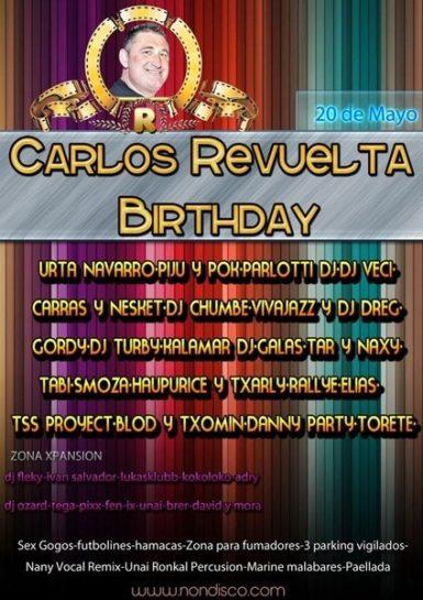 Flyer 2011.05.20 - Cumpleaños Carlos Revuelta @ Crazy - 2