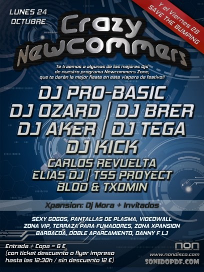 Flyer Crazy Newcommers (Octubre 2011)