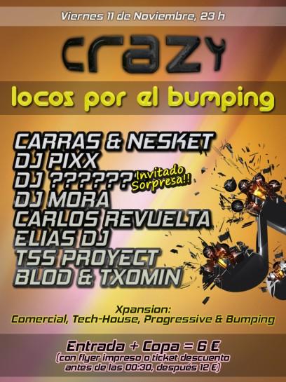 Flyer Locos por el Bumping @ Crazy