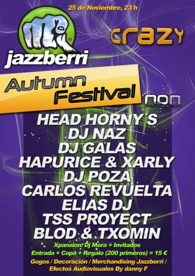 Flyer 2011.11.25 - Jazzberri Autumn Festival @ Crazy