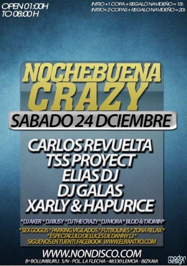 Flyer 2011.12.24 Nochebuena Crazy 384x545 Nochebuena Crazy 2011