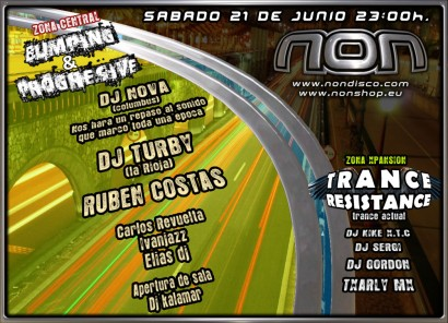 Flyer Crazy Non 20080621 Bumping Progressive 410x296 Dj Nova, Dj Turby & Ruben Costas @ Non