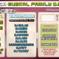 Fiesta EuskalFamilyDJs @ Crazy