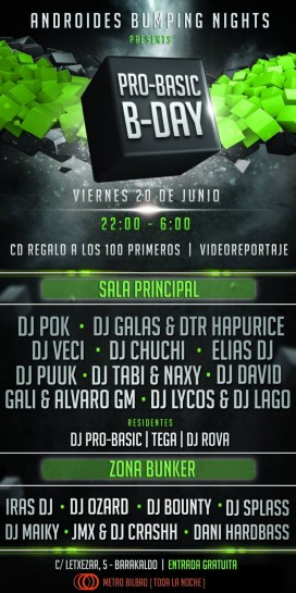 Flyer Pro-Basic B-Day @ Androides