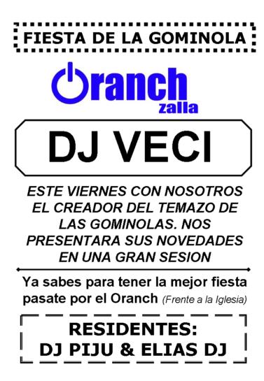Flyer o cartel de la fiesta Fiesta de la Gominola @ Oranch