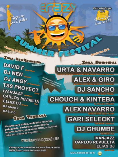 Flyer o cartel de la fiesta Crazy Summer Festival 09 @ NON