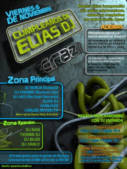 Flyer Crazy Non 20091100 Cumpleaños Elias Dj