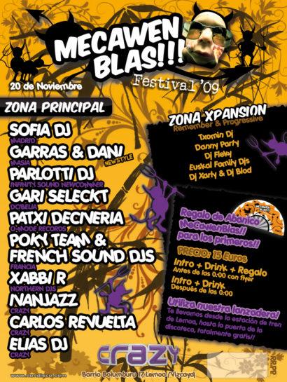 Flyer Crazy Non 20091100 Mecawen Blas Festival 09