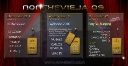 Cartel de la fiesta Welcome 2010 @ Crazy