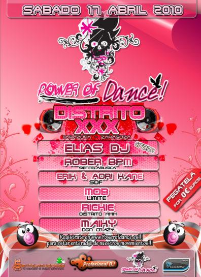 Cartel de la fiesta Fiesta Power Of Dance @ Distrito XXX