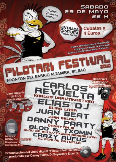 Cartel de la fiesta Pilotari Festival 2010