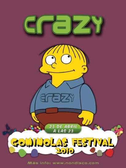 Cartel de la fiesta Gominolas Festival 2010 @ Crazy