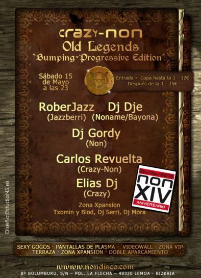 Flyer o cartel de la fiesta Crazy-Non Old Legends