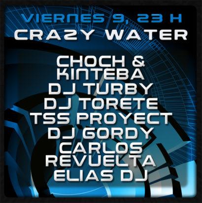 Cartel de la fiesta Crazy Water 2010