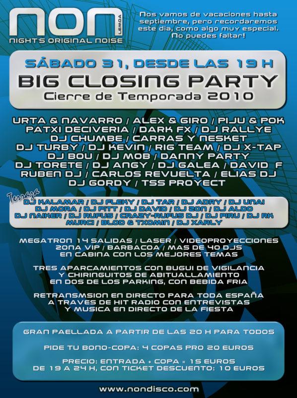 Big Closing Party @ NON