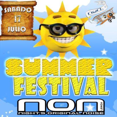 Flyer o cartel de la fiesta Summer Festival NON 2010
