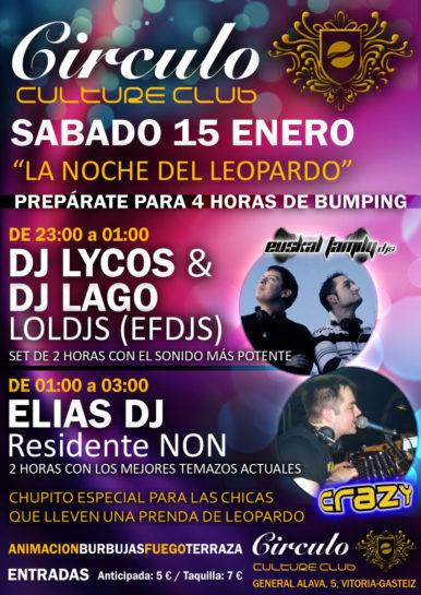 Flyer 2011.01.15 Fiesta Leopardo @ Circulo Vitoria