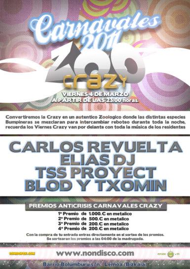 Cartel de la fiesta Zoo Crazy @ Discoteca NON