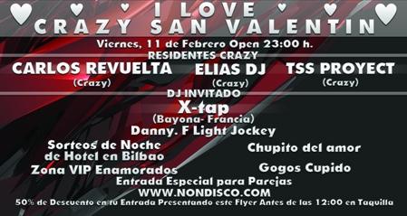 I Love Crazy – San Valentín