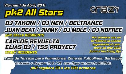 Flyer 2011.04.01 - pk2 All Stars @ Crazy