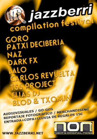 Flyer Jazzberri Compilation Festival @ Crazy