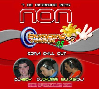 Flyer o cartel de la fiesta Bumping Festival 2005 (Zona Chill Out)