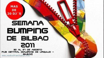 Flyer o cartel de la fiesta Semana Bumping de Bilbao (Aste Nagusia 2011)
