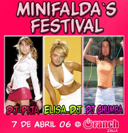 Flyer Oranch 20060407 - Minifaldas festival