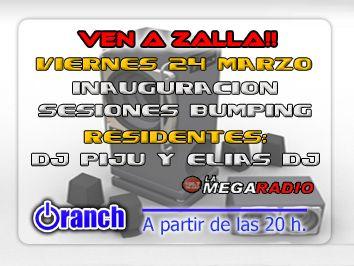 Flyer o cartel de la fiesta Inauguracion Oranch