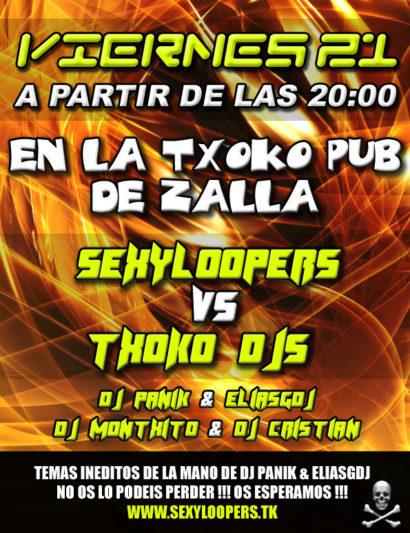 Cartel de la fiesta SexyLoopers @ La Txoko