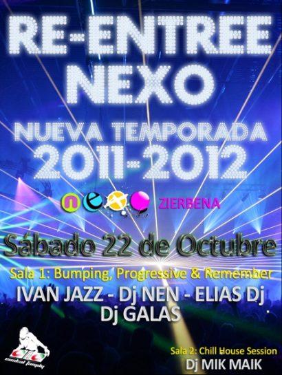 Flyer Re-entre @ Nexo (Zierbena)