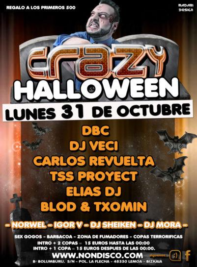 Cartel de la fiesta Crazy Halloween 2011