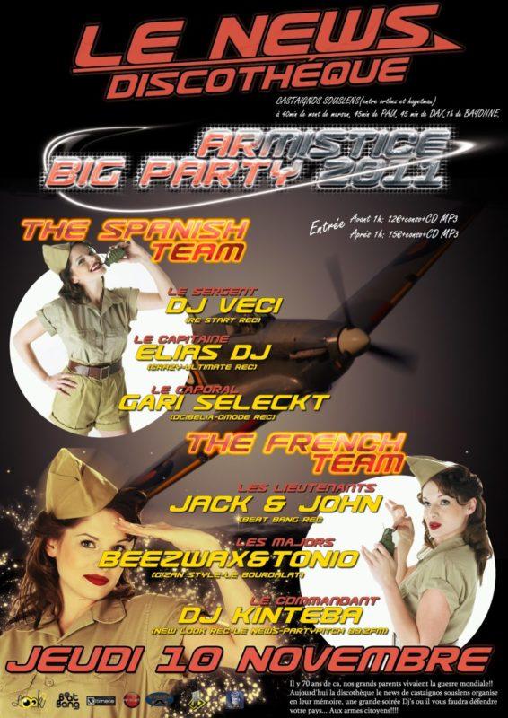 Armistice Big Party 2011 @ Le News