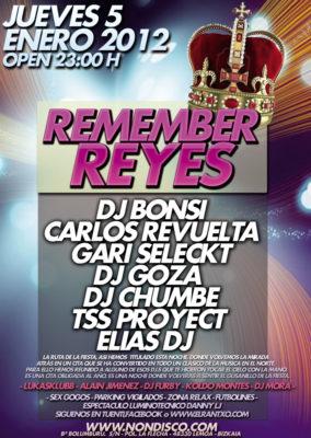 Cartel de la fiesta Remember de Reyes 2012 @ Non