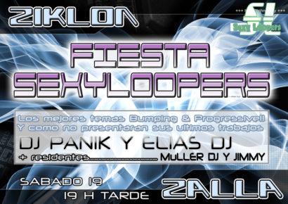 Flyer o cartel de la fiesta SexyLoopers @ Ziklon de Zalla