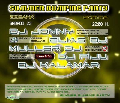 Cartel de la fiesta Summer Bumping Party @ Bocana (Castro)