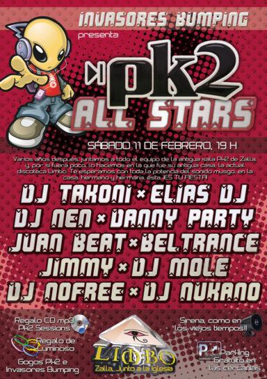 Cartel de la fiesta Invasores Bumping pres. Pk2 All Stars @ Limbo
