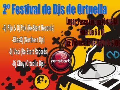 Flyer o cartel de la fiesta Ortuella Djs Festival 2