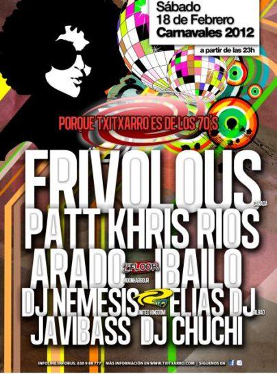 Flyer o cartel de la fiesta Carnavales 2012 @ Skamner