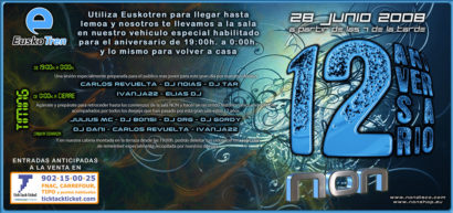 Flyer Crazy Non 20080628 12 Aniversario Timing y Entradas