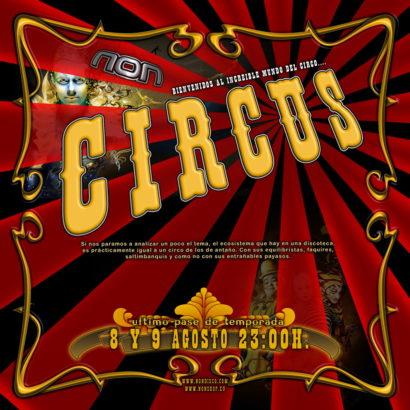 Flyer o cartel de la fiesta Crazy Circus @ Non