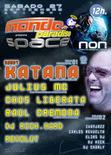 Cartel de la fiesta Mondo Paradiso Space @ Non