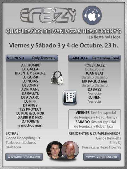 Cartel de la fiesta Cumpleaños Ivanjazz 08 @ Crazy