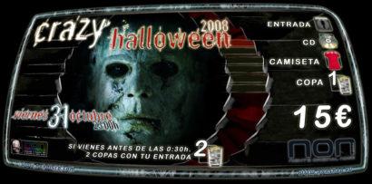 Cartel de la fiesta Crazy Halloween 08