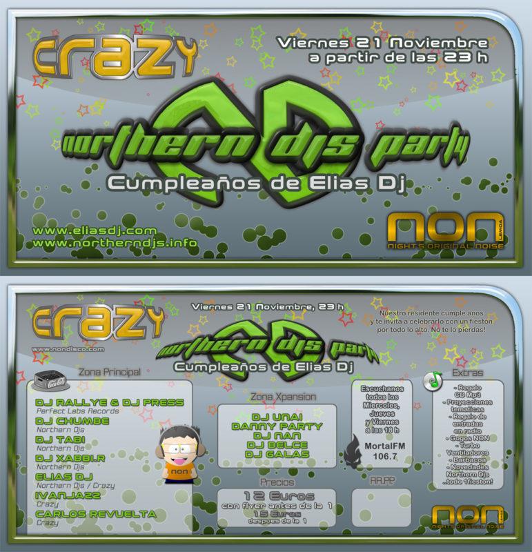 Northern Djs Party @ Crazy (Cumpleaños Elias Dj)
