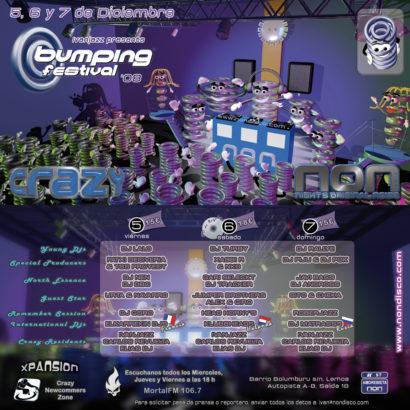 Cartel de la fiesta Bumping Festival 08