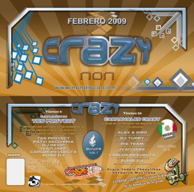 Flyer Crazy Non 20090200 Febrero @ Crazy