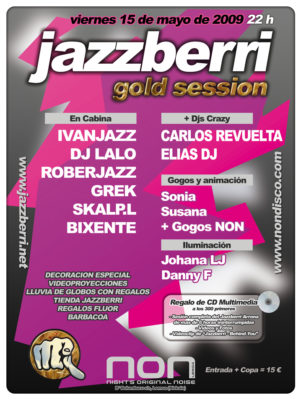 Flyer Crazy Non 20090500 Mayo 09 A Jazzberri Gold Session