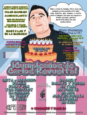 Flyer Crazy Non 20090500 Mayo 09 B Cumpleaños Carlos Revuelta